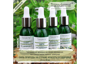 Натуральные эфирные масла Transdermal Cosmetic для обогащения массажных масел, кремов, шампуней